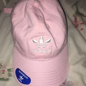 Adidas clear pink/ white hat